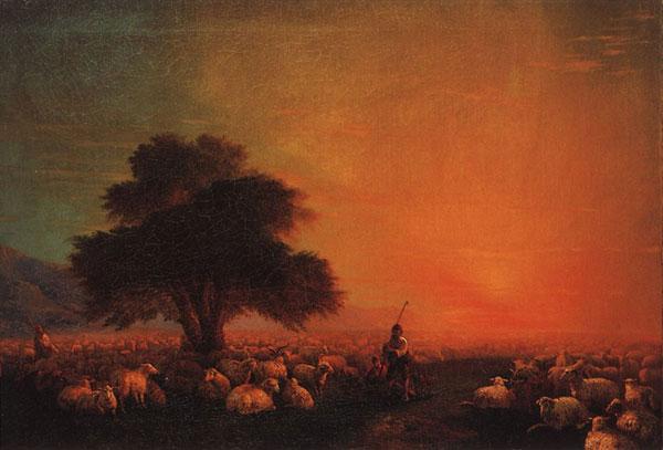 Овцы на пастбище. (Айвазовский И.К.)
