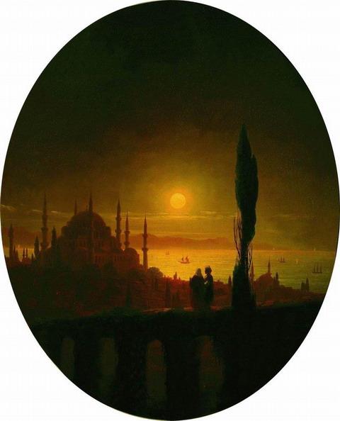Лунная ночь у взморья - 1847 год
