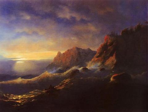 Буря. Закат - 1856 год