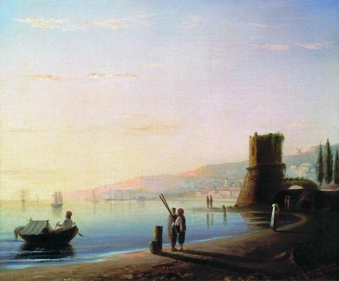 Пристань в Феодосии - 1840 год