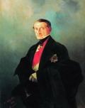 Портрет сенатора Александра Ивановича Казначеева (1788-1880), предводителя дворянства Таврической губернии 1848.
