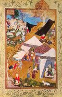 Меджнун у палатки Лейли (Мир Сеид Али)