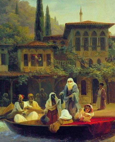 Восточная сцена (В лодке) - 1846 год