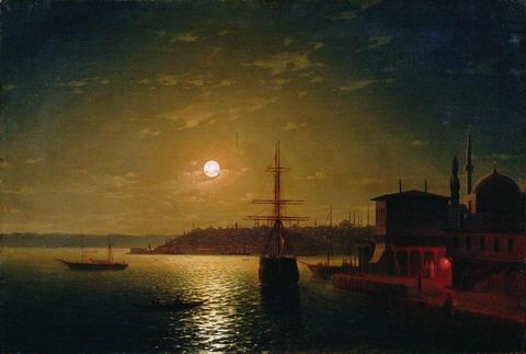 Бухта Золотой Рог. Турция - 1845 год