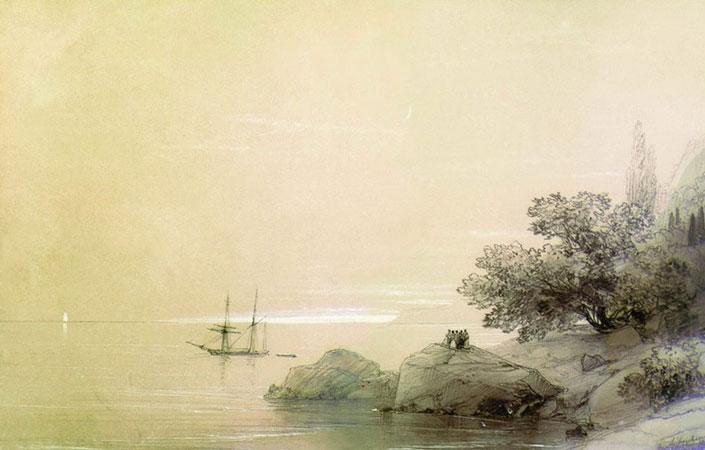 Море у скалистого берега (Айвазовский И.К.)
