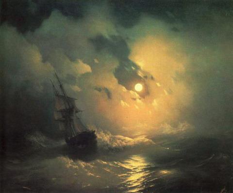 Буря на море ночью - 1849 год