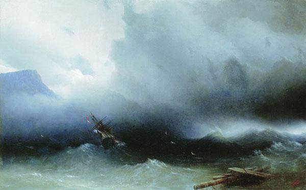 Ураган на море. (Айвазовский И.К.)