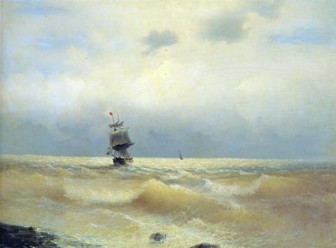Корабль у берега - 1880 год