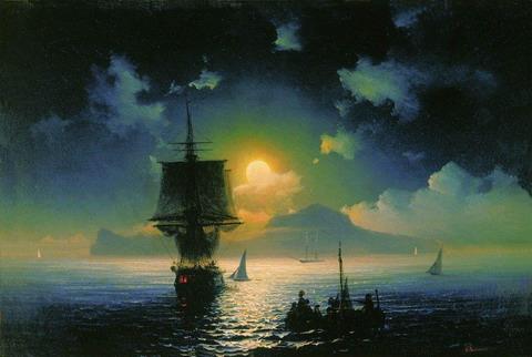 Лунная ночь на Капри - 1841 год