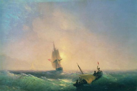 Спасающиеся от кораблекрушения - 1844 год