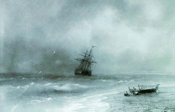 Бурное море. (Айвазовский И.К.)