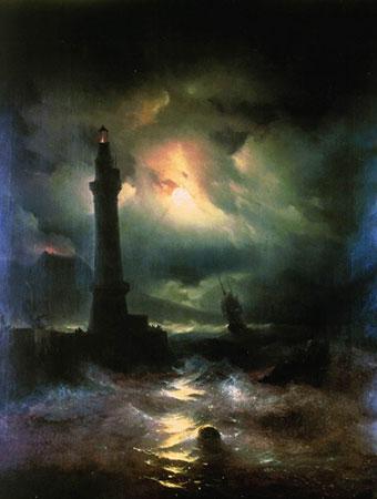 Неаполитанский маяк. (Айвазовский И.К.)