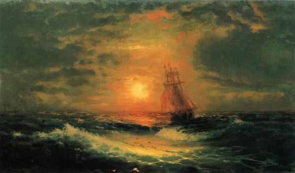 Закат на море. (Айвазовский И.К.)