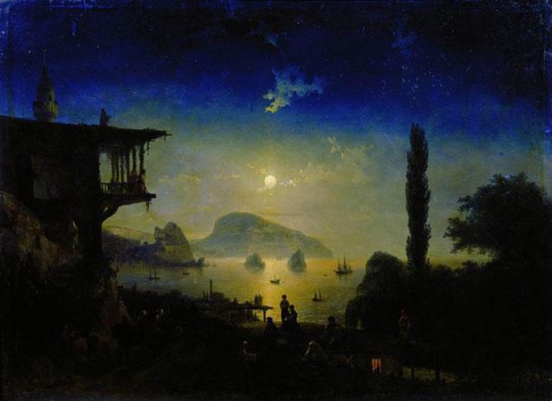 Лунная ночь в Крыму. Гурзуф. (Айвазовский И.К.)