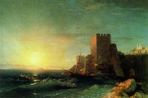 Башни на скале у Босфора - 1859 год