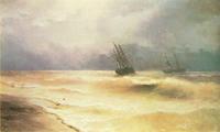 Прибой у крымских берегов (И.К. Айвазовский)