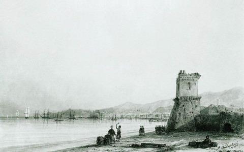 Генуэзская башня - 1845 год