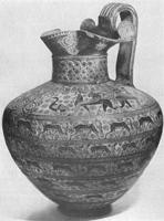 Родосская ойнохоя. Глина. VII в. до н.э. Париж, Лувр