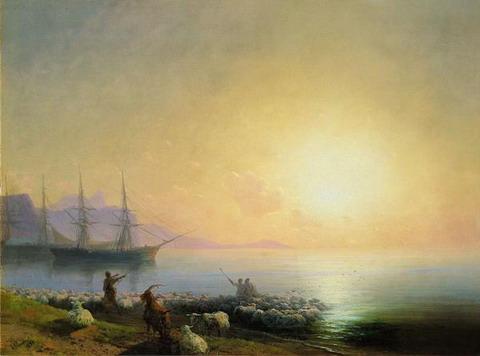 Купание овец - 1877 год
