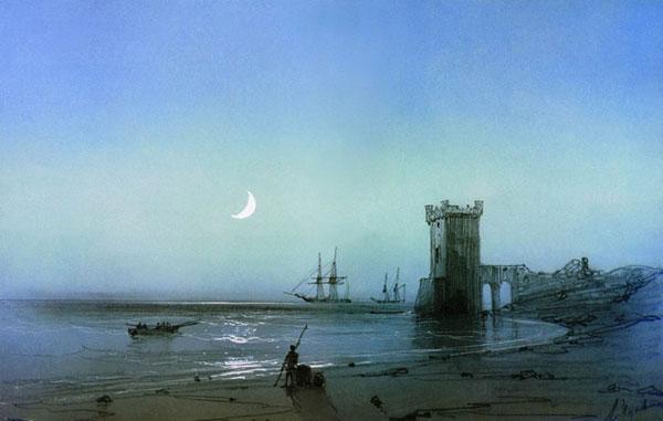 Морской пейзаж. (Айвазовский И.К.)