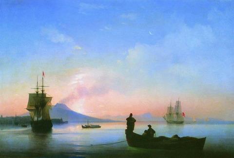 Неаполитанский залив утром - 1843 год