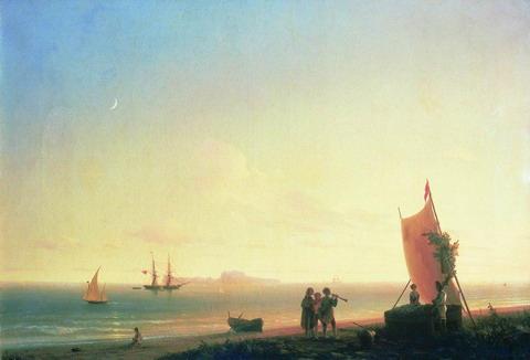 Вид на острове Капри - 1845 год