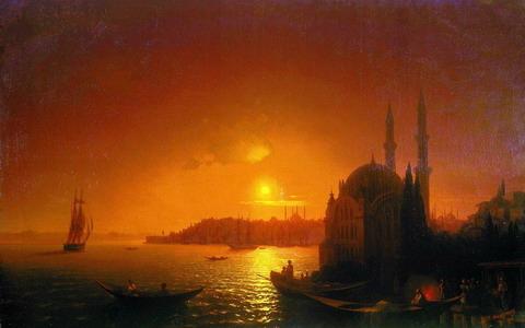 Вид Константинополя при лунном освещении - 1846 год