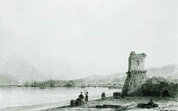Генуэзская башня. (Айвазовский И.К.)