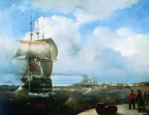 Большой рейд в Кронштадте - 1836 год