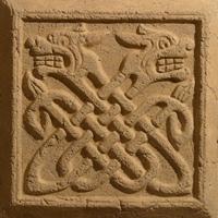 Терракотовый рельефный изразец