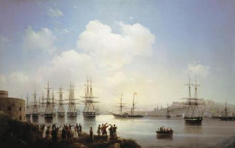 Русская эскадра на Севастопольском рейде - 1846 год