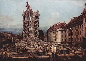 Дрезден, руины церкви (Каналетто)