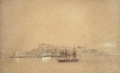 Вид Лиссабона - 1843 год