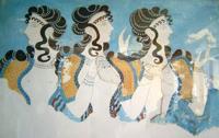 Дамы в голубом. Фреска. Кносский дворец