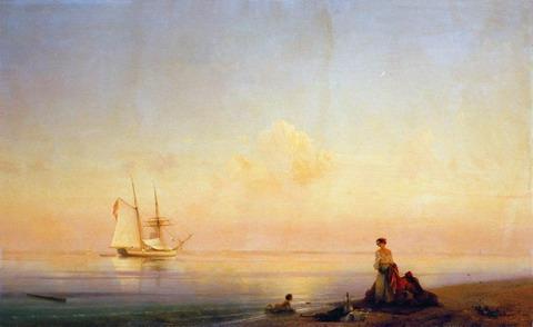 Берег моря. Штиль - 1843 год