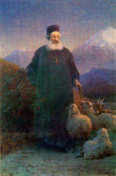 Католикос Хримян в окрестностях Эчмиадзина - 1896 год