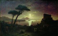 Неаполитанский залив в лунную ночь (И.К. Айвазовский)