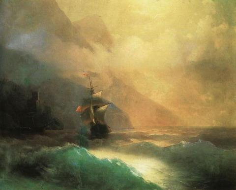 Морской пейзаж - 1870 год